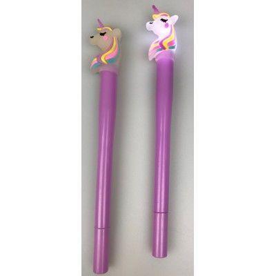 Unicornpen met lampje -€3,25