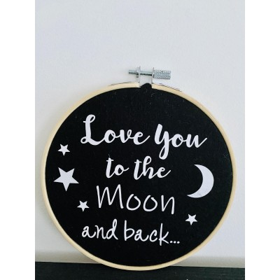 Muurhanger zwart Love you to the Moon.... -€ 9,95