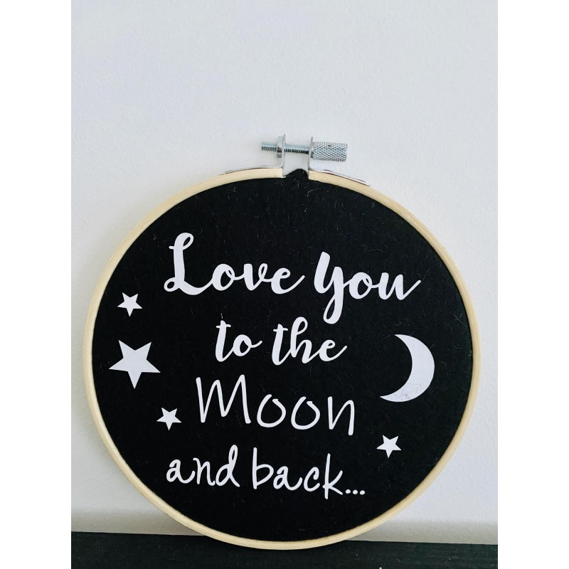 Muurhanger zwart Love you to the Moon.... -€9,95
