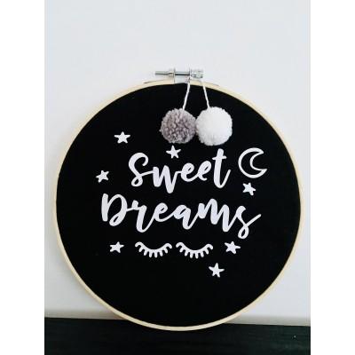 Muurhanger zwart Sweet Dreams -€12,50