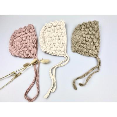Bonnet newbornmutsje ecru kleurig -€8,95