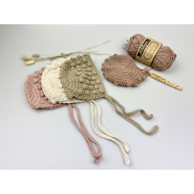 Bonnet newbornmutsje beige kleurig -€8,95