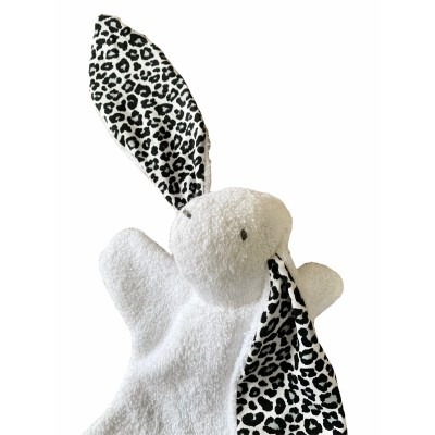 Knuffelkonijntje Lotje, wit/leopard -€12,95
