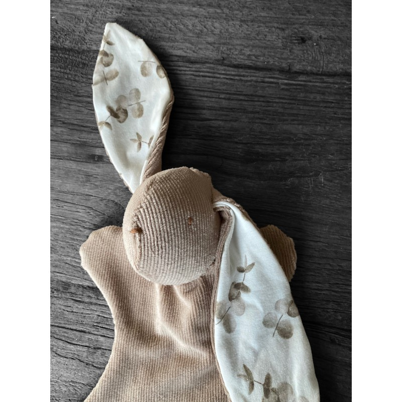 Knuffelkonijntje Lotje, beige/eucalyptus -€12,95