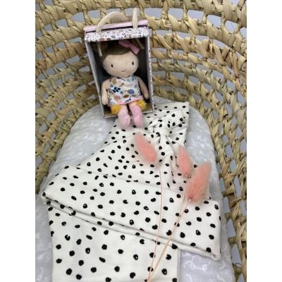 Newborn setje mini dots, mt 56 (broekje & mutsje) -€15,50