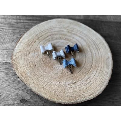 Haarstrikjes set blauw/wit - 4 stuks -€6,50