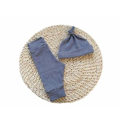 Newborn setje streep (donker blauw/zwart wit) mt 56 -€15,50