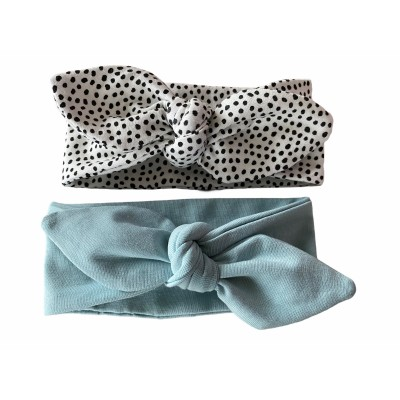 Haarband, knoophaarband groen/blauw -€7,95